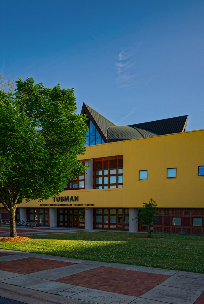 Front entrance of the Tubman Museum, one of the best things to do in Macon.