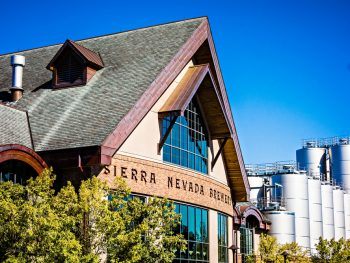 The front of the The Sierra Navada Brewery in an article about breweries in Asheville