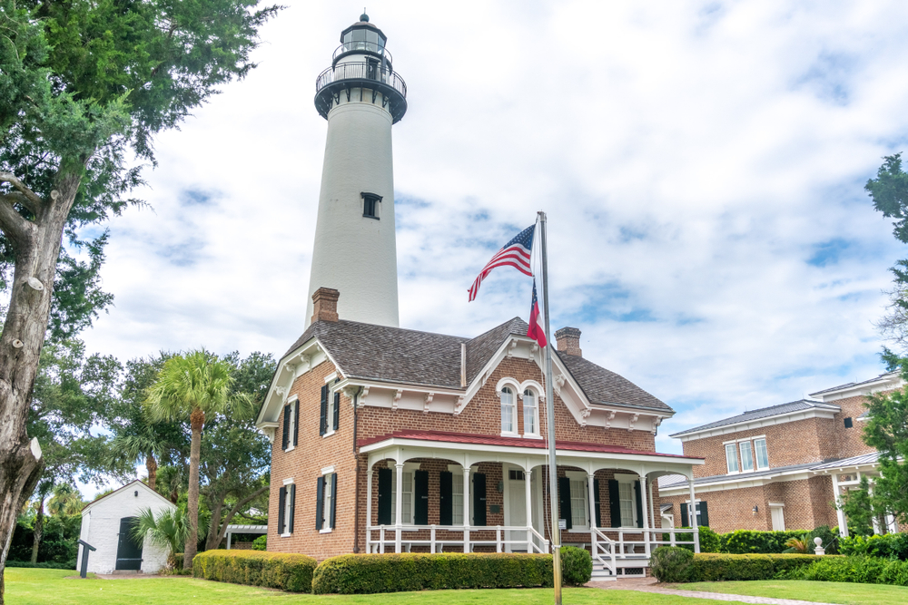 even though the lighthouse is beautiful, it comes with a grizzly past that led it to becoming one of the most haunted places in georgia