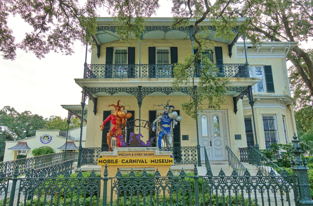 The Mobile Carnival Museum is a great thing to. doin Mobile if looking for the history of Mardi Gras, a bright yellow colonial house with carnival creatures