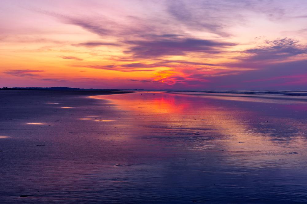 amazing sunrise over the ocean