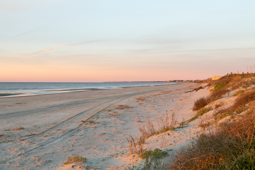 one of the best beaches in charleston at sunrise